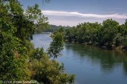 The American River from the Fair Oaks bridge.