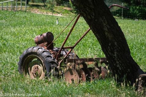 Heather calls this old machine farm art.