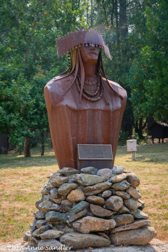 Miwok dancer sculpture