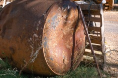 Old rusted drum.