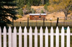 Two fences and a structure.