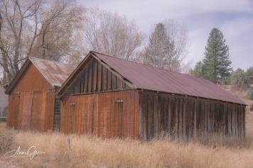 Old barns.