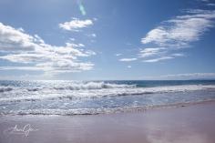 A beach scene.